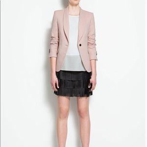 Zara / pink nude blazer